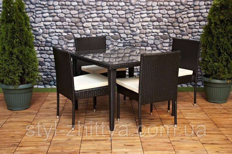 Комплект меблів FURNIDE: стіл + 4 крісла + ПОДАРУНОК!!!
