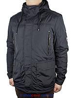 Стильная демисезонная мужская куртка Black vinyl TC16-1127 C.2