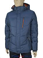 Мужская зимняя куртка Black vinyl C16-794C #25-2 синего цвета