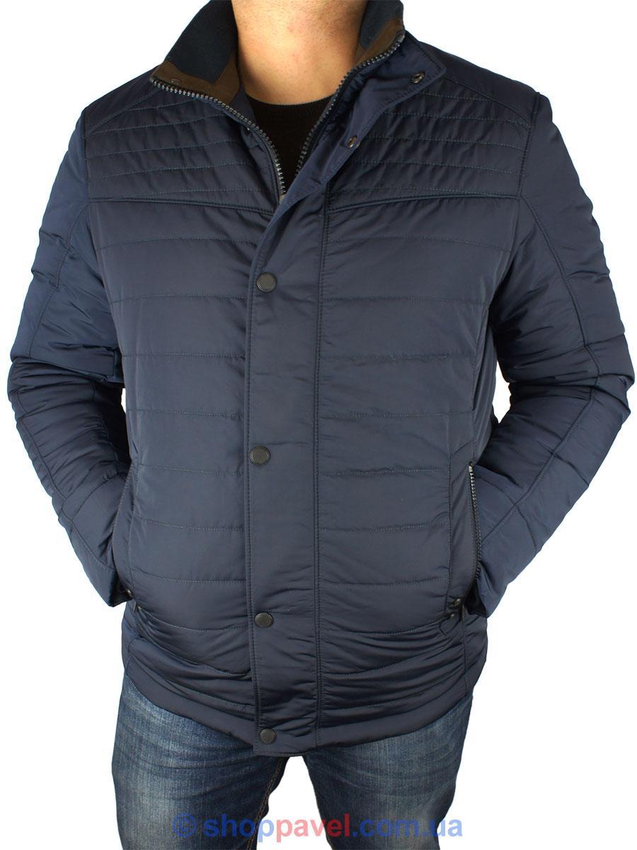 Стильная мужская куртка Santoryo WK 8145 темно-синего цвета - Магазин  мужской одежды