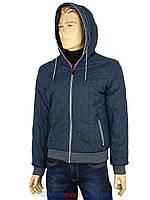 Стильная демисезонная мужская куртка Malidinu 14834/2E синего цвета