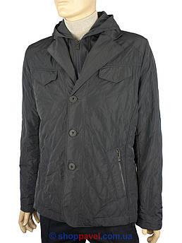Мужская серая куртка Santorio 1190 с капюшоном