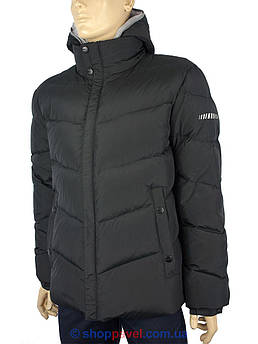 Черный мужской зимний пуховик Malidinu M-11837 1#