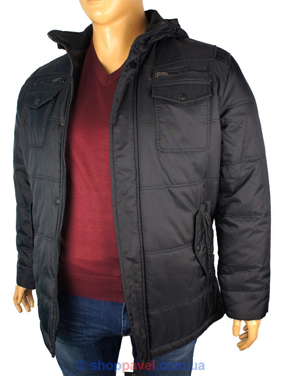 Мужская зимняя куртка Santoryo WK 7108 B в черном цвете