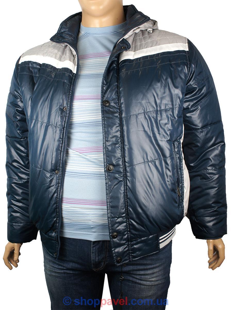 Короткая мужская зимняя куртка Santoryo WK 7230 B в синем цвете - Магазин  мужской одежды