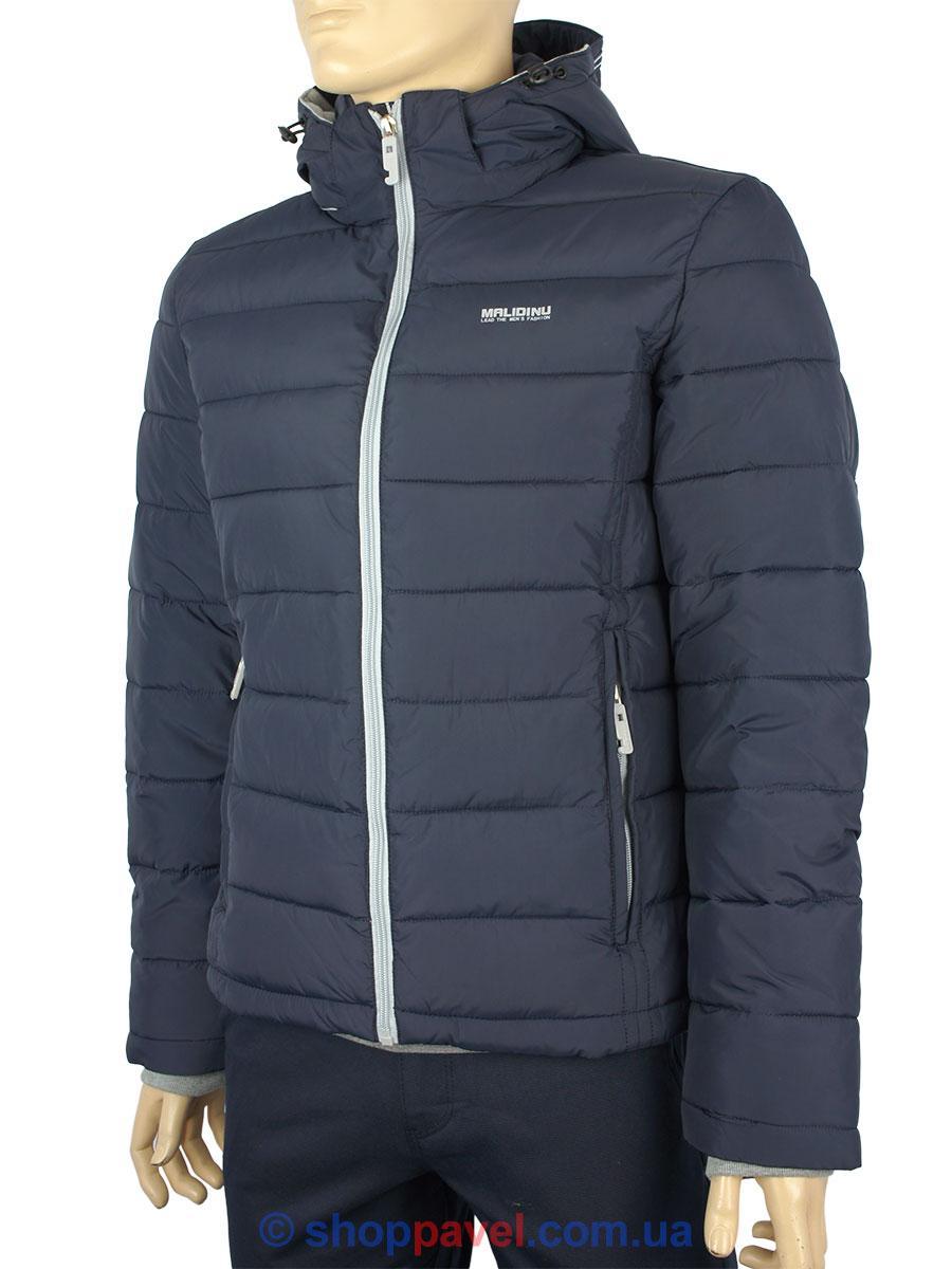 Укороченная мужская зимняя куртка Malidinu М-13511-С 2Е# в синем цвете