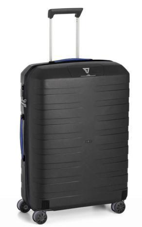 Большой пластиковый чемодан Roncato BOX 5512/0101, 80 л, черный