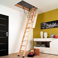Деревянная четырехсекционная чердачная лестница FAKRO LWK Komfort 94х60