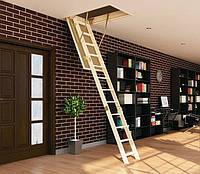 Деревянная трехсекционная чердачная лестница FAKRO LWS Smart 130х60