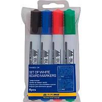 Набір маркерів BUROMAX 8800-94 для магн. дошок 4кол. 2-4мм
