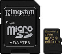 Карта памяти Kingston microSDHC/SDXC 16Gb Class 10 UHS-I + SD adapter