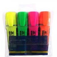 Набір маркерів BUROMAX 8900-94 текстовиділячів 4кол. флуорисцентні 2-4мм
