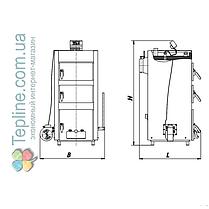 Твердотопливный котел «Данко» 80 Т (80 кВт, 5 мм), фото 3