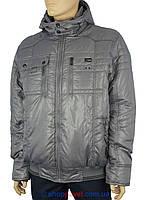 Зимняя мужская куртка с капюшоном Hewer R61765 GRI серого цвета