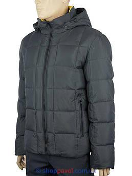 Серый мужской зимний пуховик Malidinu M-12142#5+90#