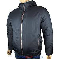 Мужская демисезонная куртка Black vinyl BTC17-810-1#2 большого размера