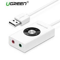 USB звуковая карта sound card для ноутбука ПК  Ugreen USB Sound