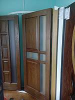 Двері міжкімнатні Подільські соснові шпоновані дубом