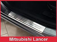 Накладки на пороги Mitsubishi Lancer