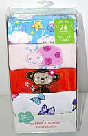 Набор бодиков Carters для девочек с коротким рукавом, возраст 24 месяца.