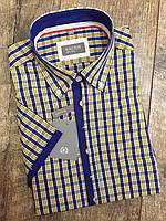 Мужская рубашка KASTOR в сине-желтую клетку