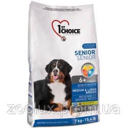 1st Choice (Фест Чойс) сухой супер премиум корм для пожилых или малоактивных собак средних и крупных пород,7кг