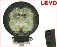 Светодиодная LED фара рабочего света круглая 27W 05-27