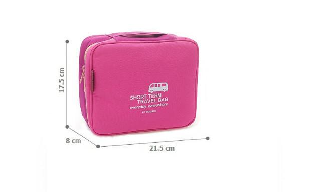 Дорожная косметичка/несессер розовая размеры