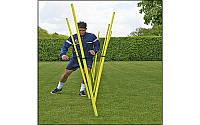 Шест для слалома тренировочный 5915: 3 сложения, штык для крепления в грунт