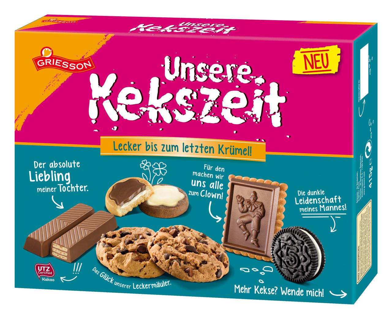 Печенье ассорти в коробке Unsere Kekszeit Griesson, 415 гр
