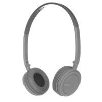 Портативные наушники ergo vm-330 grey с микрофоном