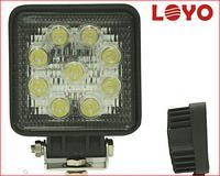 Светодиодная LED фара рабочего света квадратная 27W 06-27
