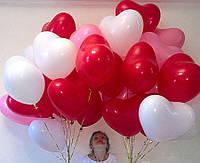 Воздушные шарики сердце 26 см 100 шт