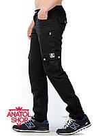 """Штаны """"Ястребь"""" cargo pants Classic (прямые) Тёмно\синий"""