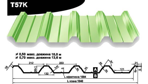 Профнастил Прушински  Т 57цынк 0.65 мм, фото 2