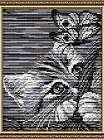 Набор для выкладки алмазной техники Котенок в корзине