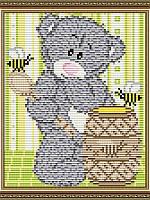 Набор для выкладки алмазной техники Мишка с медом