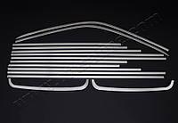 Хром накладки на окантовки на молдинги стёкол Volkswagen T5 (с 2003--) (нерж.) 14 шт. корот.база