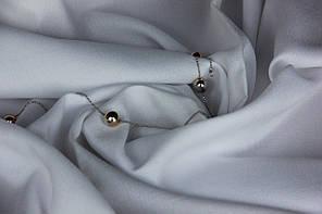 Белый креп ткань для тюли и гардин Diamante