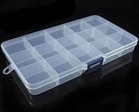 Коробка органайзер кассетница для мелочей, бисера, рыбалки
