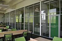Комбинированные офисные перегородки с повышенной шумоизоляцией