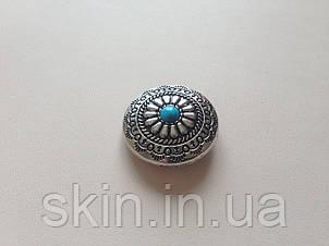 Кончо, крепление винт, цвет никель, диаметр 30 мм, артикул СК 5157, фото 2