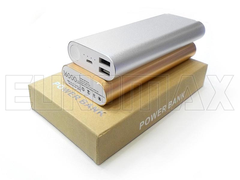 Внешний аккумулятор (power bank) 16000мАч (6000мАч) PB-16000