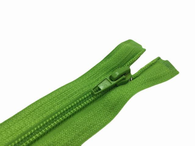 Молния спиральная №5 разъем 75см S-047 зеленый яркий ZIP