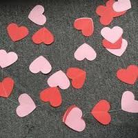 "Гирлянда ""Сердце красное"" 1,8 м. Сердечки 9*9 см"