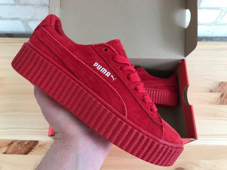 1bc24a9c7a74 Женские кроссовки Puma x Rihanna Creeper Red - Магазин Nike-Shop. Брендовая  спортивная одежда