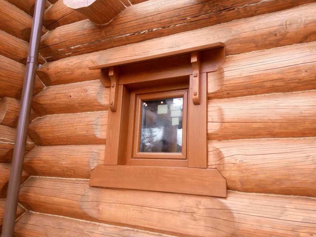 Энергоэффективные пластиковые окна в сруб с задумкой!