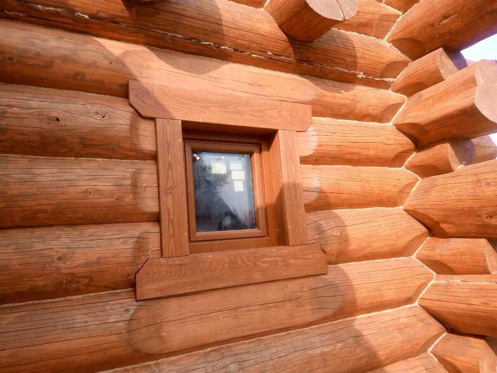 Энергоэффективные пластиковые окна в сруб с задумкой! 1