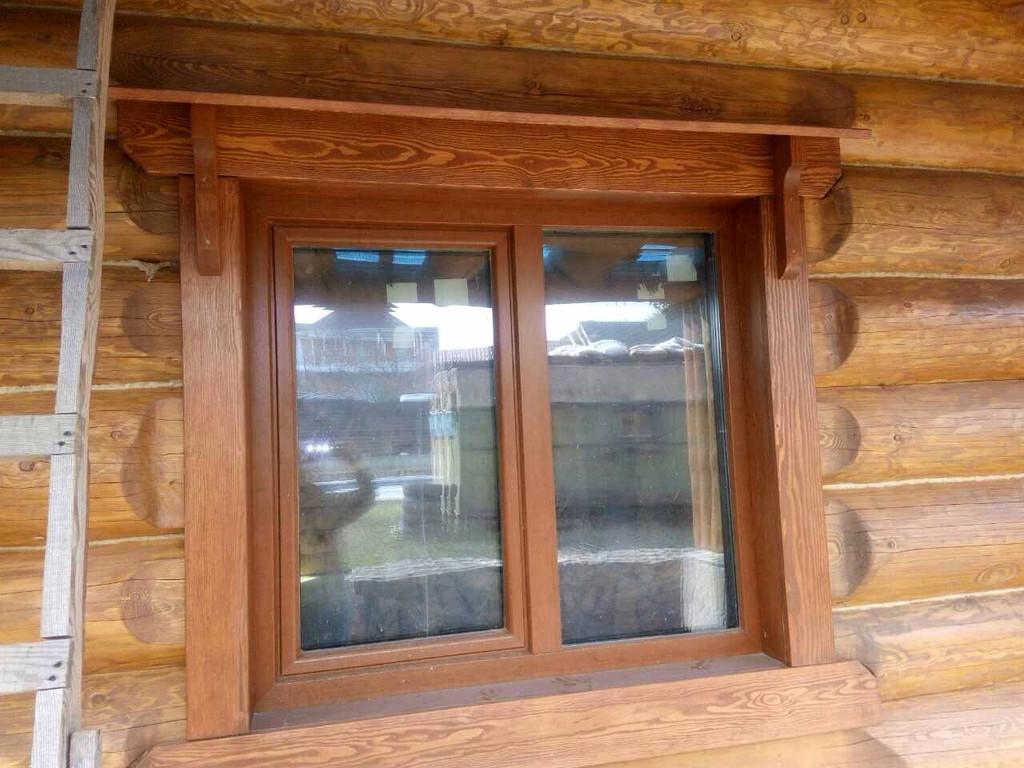 Энергоэффективные пластиковые окна в сруб с задумкой! 3
