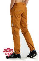 """Штаны """"Ястребь"""" cargo pants Classic (прямые) Оранжевый"""